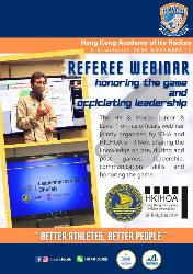 Referee Webinar - honoring the game and officiating leadership